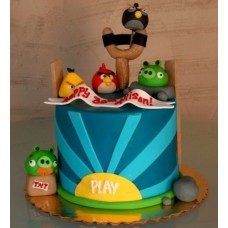 "Детский торт ""Angry Birds"" №6"
