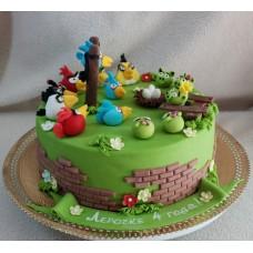 "Детский торт ""Angry Birds"" №4"