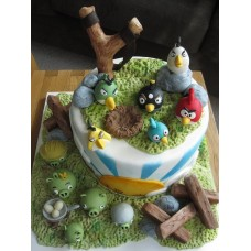"Детский торт ""Angry Birds"" №3"