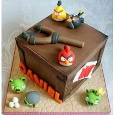 "Детский торт ""Angry Birds"" №5"