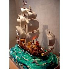 """Детский торт """"Корабль"""""""