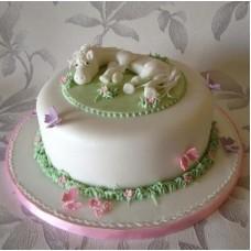 """Детский торт """"Белая лошадка"""""""