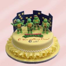"""Детский торт """"Команда черепашек"""""""