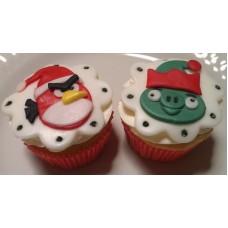 """Капкейки на новый год """"Angry Birds"""""""