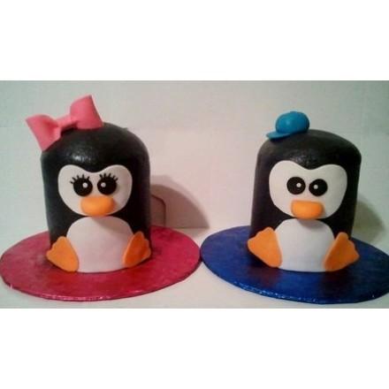 """Пирожные на Новый год """"Пингвинчики Лоло и Пепе"""""""
