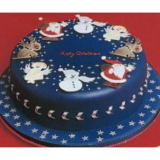 """Новогодний торт на заказ """"Рождественские символы"""""""