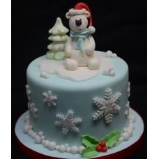 """Новогодний торт на заказ """"Медвежонок"""""""