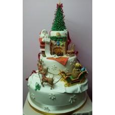 "Новогодний торт на заказ ""Список Санты"""
