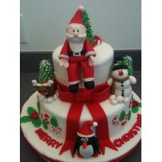 "Новогодний торт на заказ ""Рождественский Санта"""