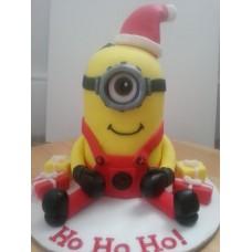 "Новогодний торт на заказ ""Миньон Санта"""