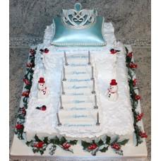 """Новогодний торт на заказ """"Королевский Новый год"""""""