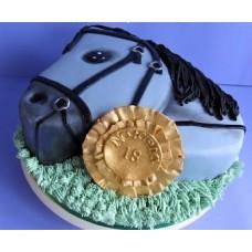 """Новогодний торт на заказ """"Синяя лошадь"""""""