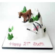 """Торт """"Лошадь на лыжах"""""""