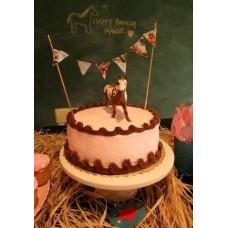 "Новогодний торт на заказ ""Цирковая лошадь"""