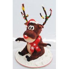 "Новогодний торт на заказ ""Олень Санта-Клауса"""