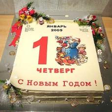 "Новогодний торт на заказ ""Календарь"""
