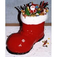 """Новогодний торт на заказ """"Сапожок с подарками"""""""