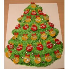 """Новогодний торт на заказ """"Именная елочка"""""""
