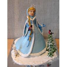 "Новогодний торт на заказ ""Снегурочка в лесу"""