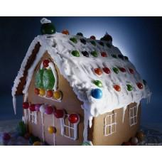 """Новогодний торт на заказ """"Праздничный домик"""""""