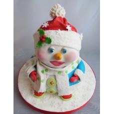 """Новогодний торт на заказ """"Снеговичок для мальчика"""""""