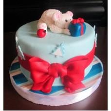 "Новогодний торт на заказ ""Подарок для Мишки"""