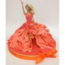 """Детский торт """"Барби Принцесса на вечеринке"""""""