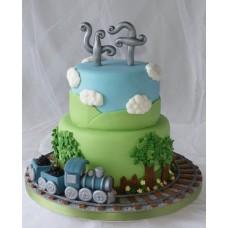 """Детский торт """"Грузовой паровозик"""""""