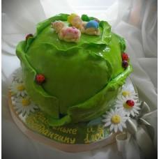 """Детский торт """"Близняшки в капусте"""""""