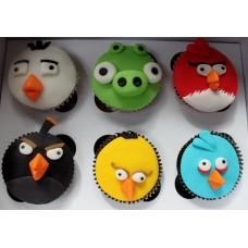 """Детские капкейки """"Команда Angry Birds"""""""