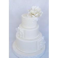 """Свадебный торт """"Бусинка"""""""