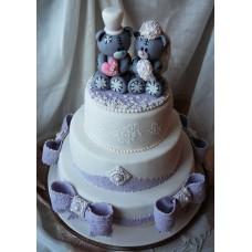 """Свадебный торт """"Свадьба Тедди"""""""