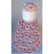 """Свадебныйе капкейки """"Букет из роз"""""""
