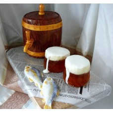 "Торт ""Бочонок с пивом"""