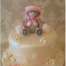 """Новогодний торт на заказ """"Новогодний Тедди"""""""
