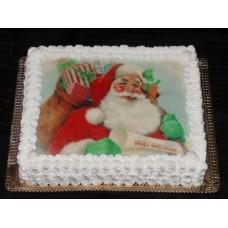 """Торт с фотопечать """"Новогоднее настроение"""""""