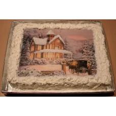 """Торт с фотопечатью """"Новогодняя картинка"""""""