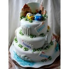 """Торт """"Свадебное путешествие"""""""