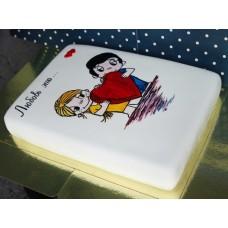 """Торт на день влюбленных """"Любовь это..."""""""