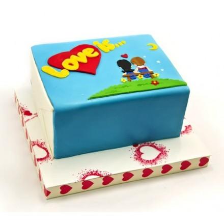 "Торт на 14 февраля ""Love is ..."""