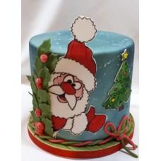 "Новогодний торт ""Привет от Деда Мороза"""