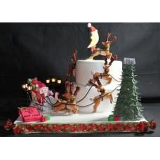 """Новогодний торт на заказ """"Месяц в Новый Год"""""""