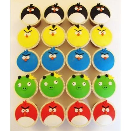 "Детские капкейки ""Angry Birds"" №5"