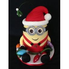 """Новогодний торт на заказ """"Новогодний миньон"""""""