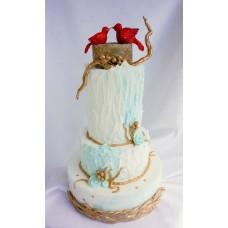 """Новогодний торт """"Зимняя страна чудес"""""""