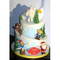 """Новогодний торт """"Снежный человек"""""""