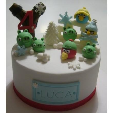"Детский торт ""Angry Birds"" №7"