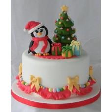 """Новогодний торт """"Милый пингвинчик"""""""