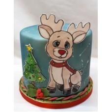 """Новогодний торт """"Маленький олененок"""""""