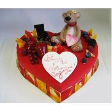 """Торт на День Святого Валентина """"В ожидании любимой"""""""